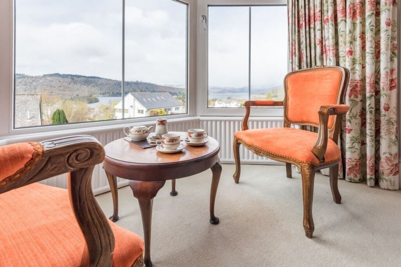 Enjoy a cuppa in The Langdale whilst admiring far-reaching views of Lake and fells from your room.