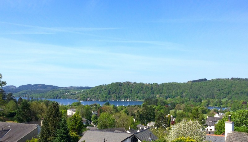 Windermere and the fells from The Attic room at Blenheim Lodge B&B.