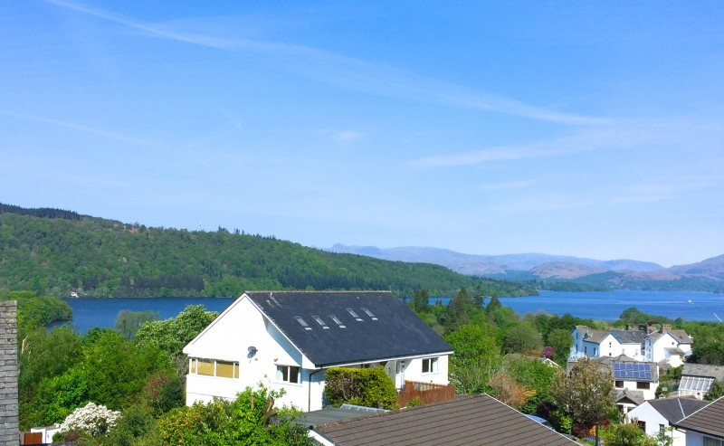 Looking over to the Western fells in the Lakes from The Attic room at Blenheim Lodge.