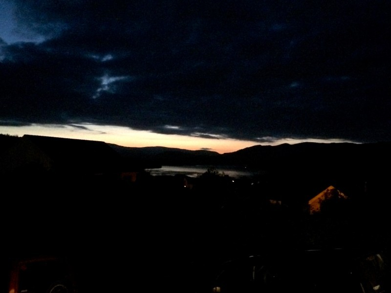 Sunset over Windermere seen from Blenheim Lodge B&B.