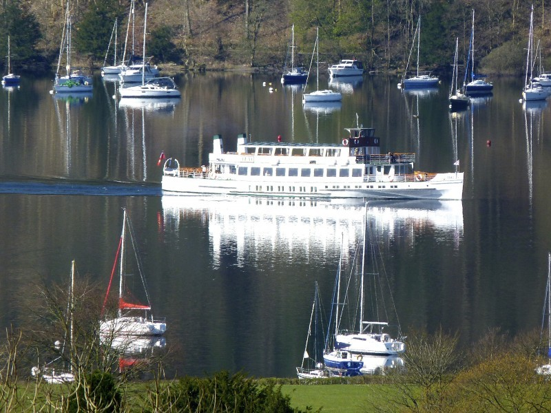 This photo was shot from the Eyrie, our single guest room on the second floor of Blenheim Lodge. Here is one of the passing ferries that ply the Lake year in year out. Photo taken on 27th April.
