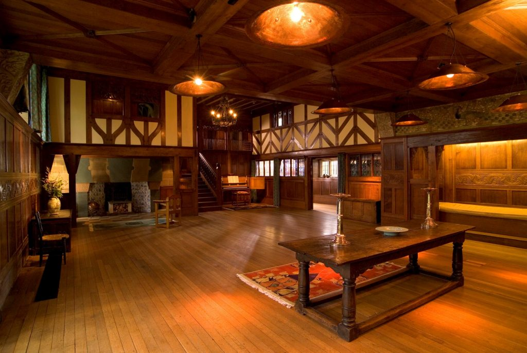 Main Hall interior of Blackwell Arts and Crafts House
