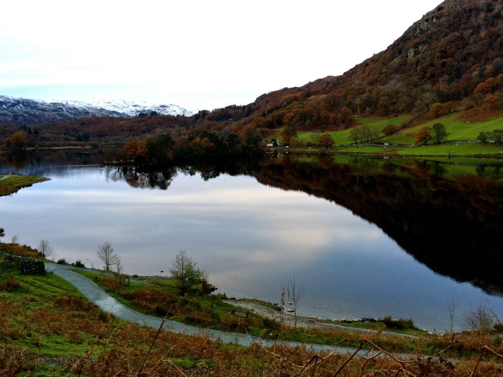 Rydal Water in the gloaming during our Autumn afternoon walk.