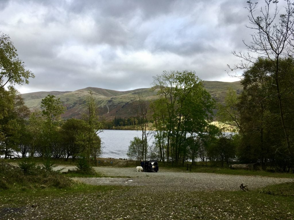 Armboth car park, Thirlmere, lake district