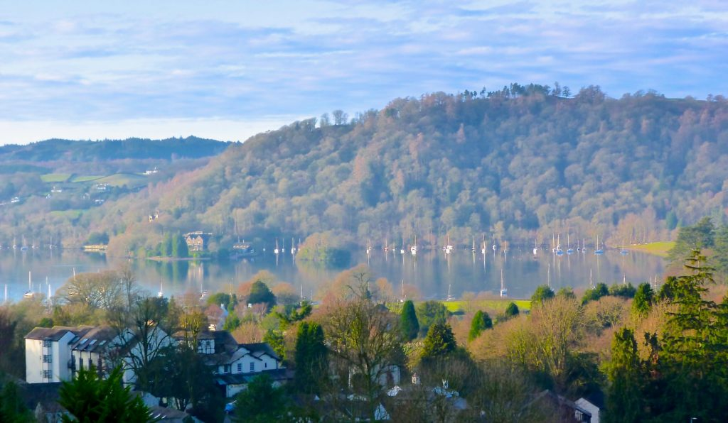 Lake Windermere view from blenheim lodge, Bowness