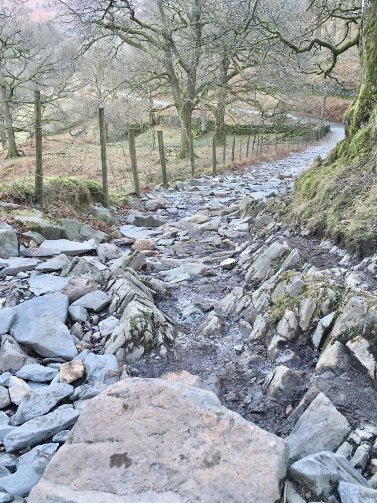 coffin route, corpse road, rydal water, stones, rocks