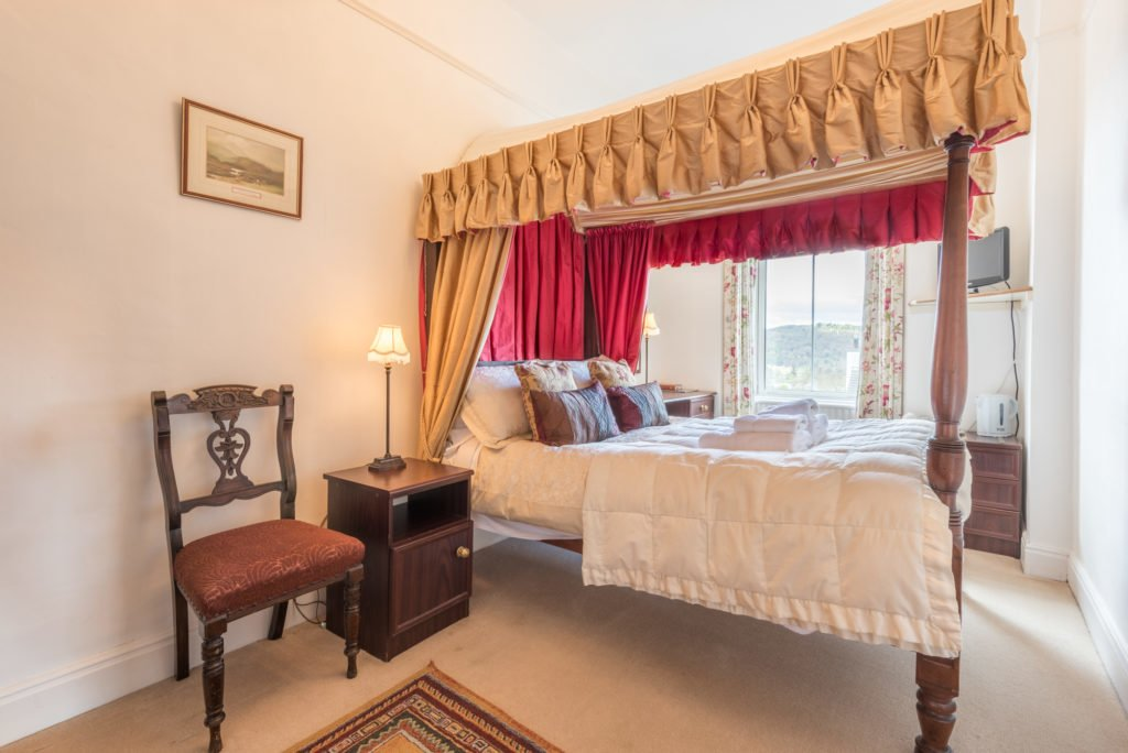 antique four poster bed, blenheim lodge, guest room | Bowness on Windermere | Cumbria Lake District