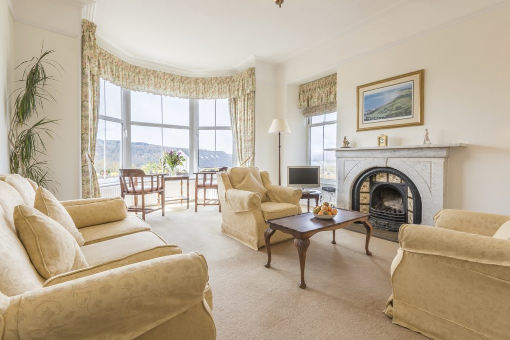 guest lounge blenheim lodge bed and breakfast | Bowness on Windermere | Cumbria Lake District