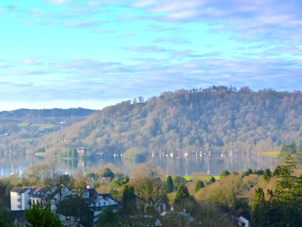 lake view at spring time from blenheim lodge guest house | Bowness on Windermere | Cumbria Lake District