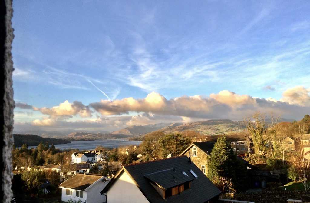 Bedroom view of lake windermere | Blenheim Lodge | Bowness on Windermere | Cumbria Lake District