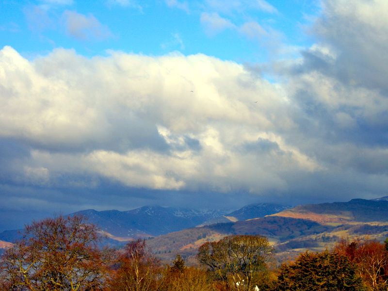 Mountain View from The Coniston Bedroom at Blenheim Lodge.