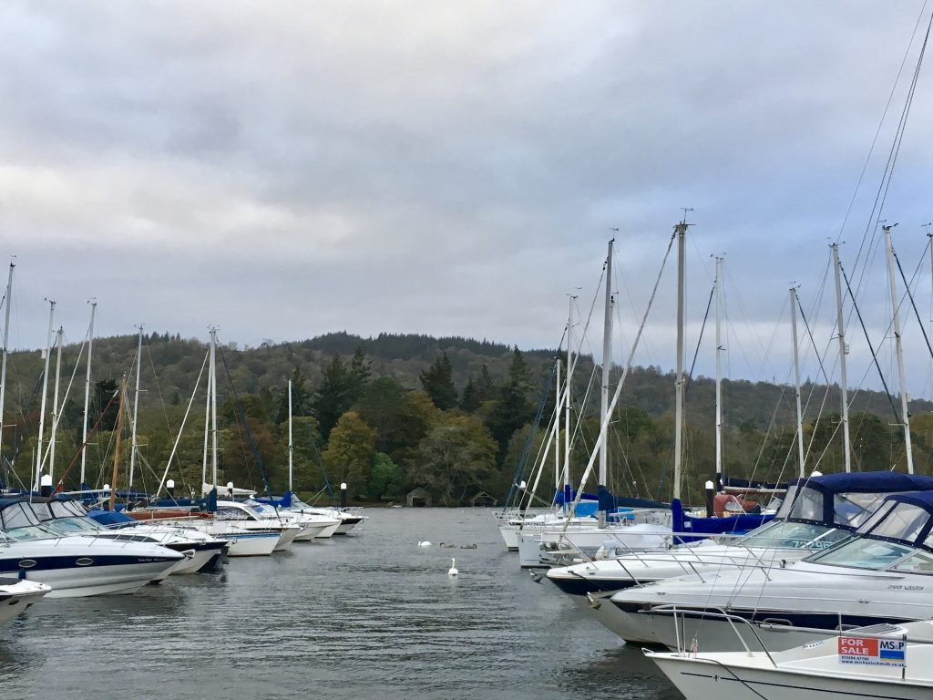 Yachts at Bowness Bay, Bowness on Windermere, Lake Windermere