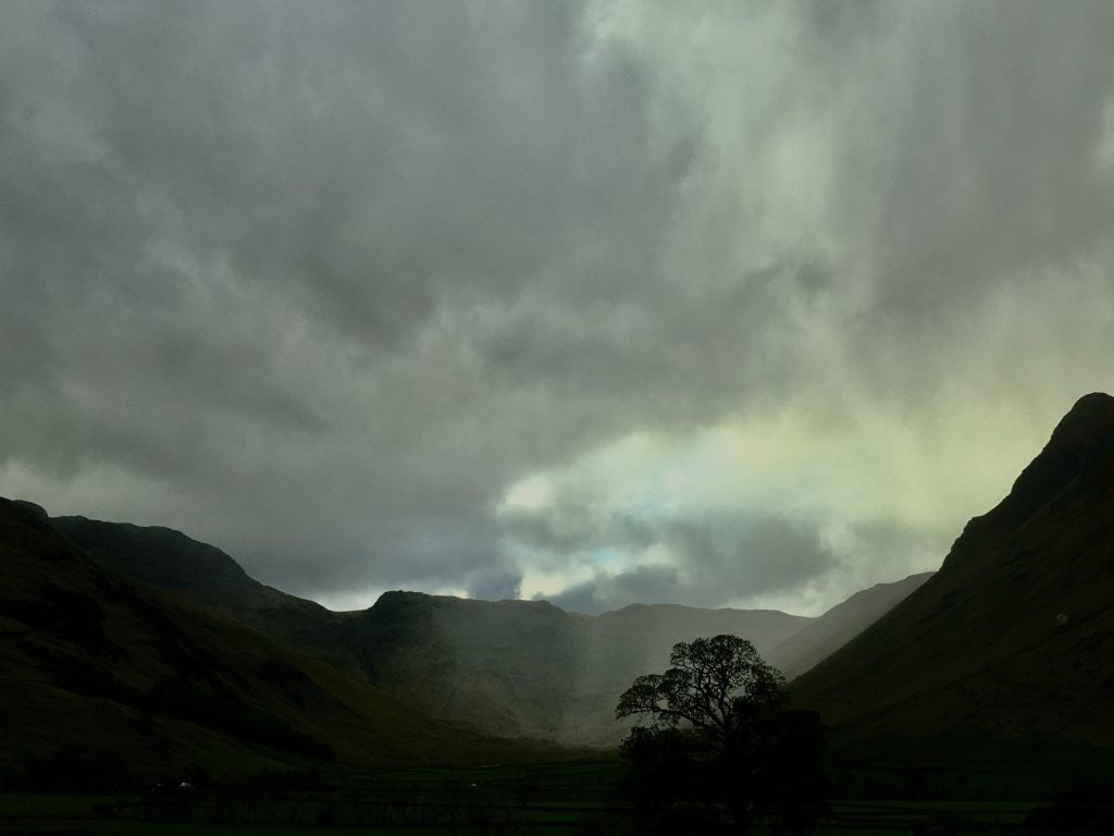 Storm clouds on a rainy day out at Dungeon Ghyll, Great Langdale