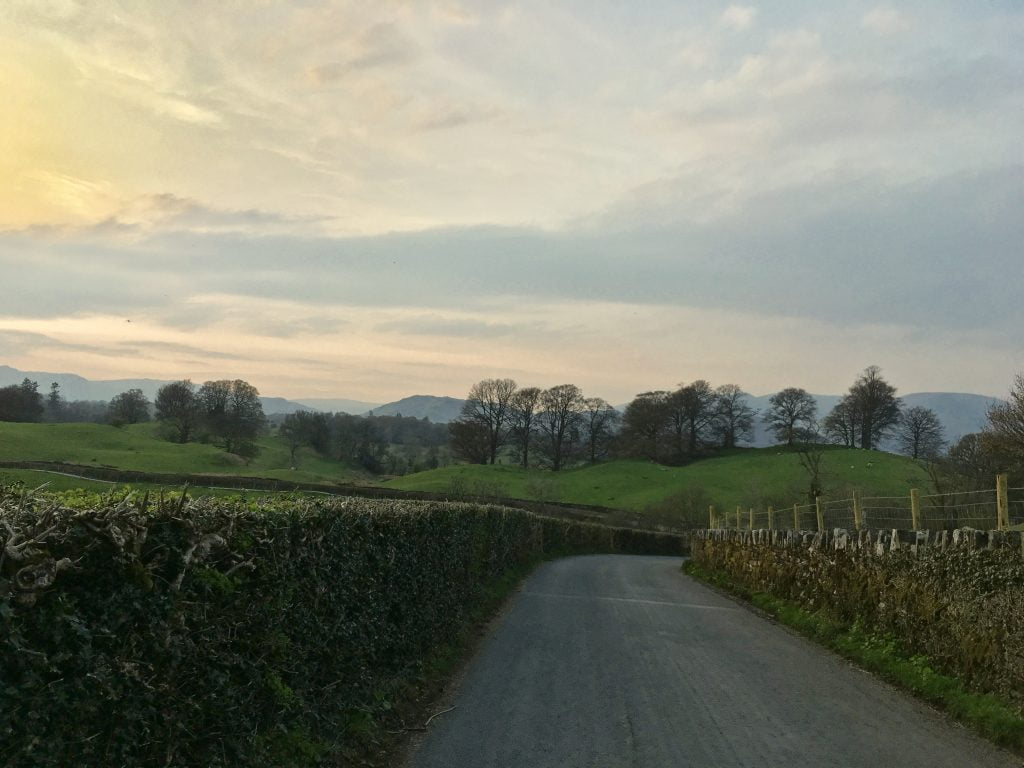 Country road Lake District
