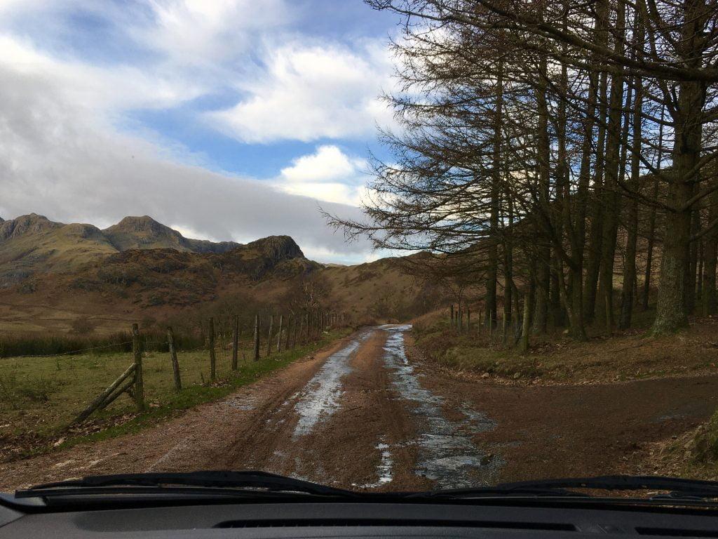 Driving to Blea Tarn, Lake District, Mountains