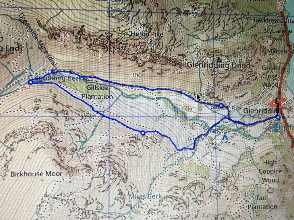 os map Lake District